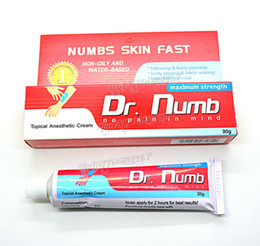 Wholesale Professional DR Numb Tattoo Anaesthetic Cream g Tattoo Numbing For Tattoo Body Piercings Waxing Laser Makeup EMS Free