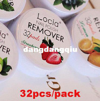 Nail Polish Remover CEDAR 100000 Wholesale-Cleanser Nail Art Polish Remover Pad Vanish Wet Wipes Paper Towel Remover Pads Fruit Flavor 64pcs pack