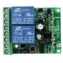 Wholesale New V Channel RF Wireless Remote Control Receiver Relay Module Switch MHz Learning Code F4139A