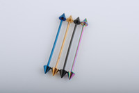 Wholesale 14GTitanium Anodized Surgical Steel Industrial Barbell Piercing Bars Body Jewelry
