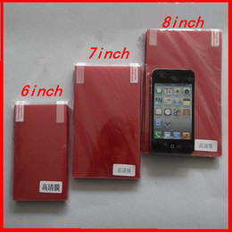 Wholesale Size mm mm Universal quot Screen Protector Film Cover For inch Tablet PC Android UMPC MID