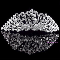 Czech Stone belly dance bangles - Bridal Jewelry Crown the bride Peacock love marriage gauze dancing performance female wedding costume dish hair hair accessories