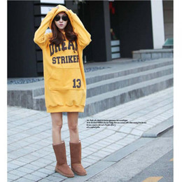 Wholesale TOMTOCE Women s Tops Letters Print Hoodie Long Thick Warm PulloverG0051