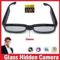 Wholesale Spy Glasses HD P Hidden Camera Eyewear Mini DV Camcorder Video Recorder Mega V12