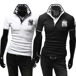Wholesale D26 New Mens Fashion Sports Slim Fit Casual T Shirts colors us size S M L XL