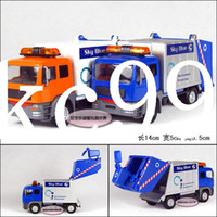 Wholesale High Quality Garbage Truck Clean car Plain Alloy Car Model Educational Toys Pull Back Vehicle Cars