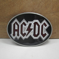 Alloy acdc free music - ACDC belt buckle music belt buckle with pewter finish FP with continous stock