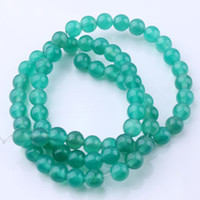 Wholesale 4mm Green Agate Round Bead Strand level AB quot