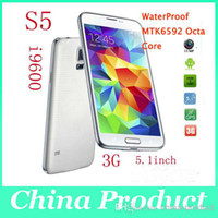Wholesale 5 quot Real S5 IP67 Waterproof Phone G G Remote OTG Android MTK6592 Octa Core smartphone MP Heart Rate GPS