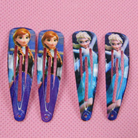 Wholesale 2014 Fashion Frozen mixed Hair Clips Girls Hair Accessories Clamps Hairpin queen of snow and ice hairpins girls lovely Ornament BB Baby Hair