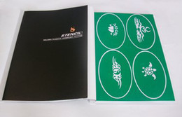 Wholesale Temporary Airbrush Tattoo Stencil Template Booklet designs PH SB001