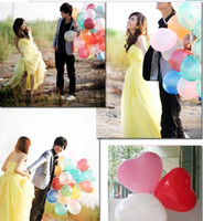 Wholesale 100 Pieces Love Heart Balloons for Wedding Birthday Party Celebration