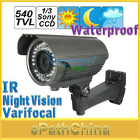 Infrared Video Camera epathchina Free Shipping! High Quality Waterproof Varifocal 540TVL HD Sony CCD Video Surveillance Security CCTV Camera with IR Night Vision