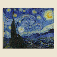 One Panel Digital printing Fashion Modern Wall Painting Van Gogh Oil Painting On 100% Cotton Canvas Wall Art Famous Printed Picture Home Decoration FP005 40X50cm