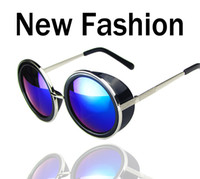 Wholesale Coating Sunglass Steampunk Round Fashion Sunglasses Women Brand Designer Steam Punk Metal Sun Glasses Men Retro Oculos