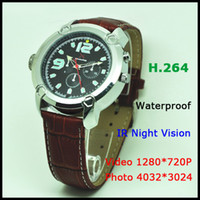 Wholesale 16GB GB HD P Watch Camera With Separately Voice Recording IR function H Hidden Mini DV Watch Camcorder V304