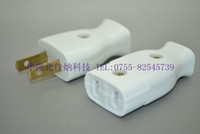 Wholesale Japan s high quality imitation pure white butt plug outlet hole large copper male and female connectors power plug socket