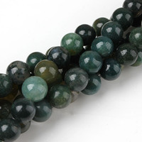 amethyst hematite - 8mm Natural Aquatic Plants Agate Round Bead Strand quot