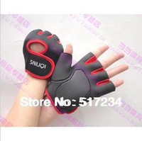 Wholesale 2014 Hot Sell Fitness Gloves Protect Wrist Anti skid Sports Gloves Gym Weight Lifting Fitness Gloves