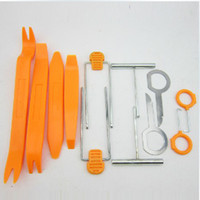 Wholesale Hot Sale One Set Car Radio Door Clip Panel Trim Dash Audio Removal Pry Tool Kit Plastic