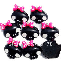 Resin Yes JOY 600pcs lots color,1x1'' Halloween Cute Kawaii Skull, Resin Flatback Cabochons for Hair Bow Center Embellishment,REY367