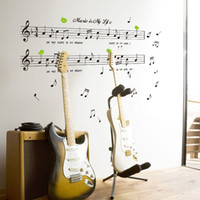 Graphic vinyl PVC Animal 1set Transparent PVC Decals Music Is My Life Wallpaper & Music Note Removable Stickers For Livingroom Wall Decorate Dancing Note