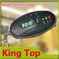 Wholesale 1Pcs Digital LCD Alcohol Tester Analyzer Breath Breathalyzer Oval Shap
