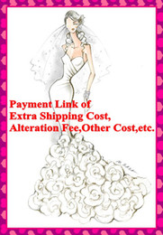 Wholesale Payment Link of Extra Shipping Cost Alteration Fee Other Cost For Wedding Dresses and Evening Dresses
