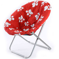 Wholesale The folding chair with printing fabric moon chair