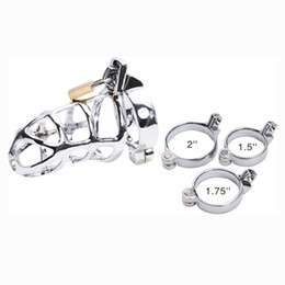 Wholesale BDSM Cock Cage Sex Toys Chastity Device Stainless Steel Penis Lock Chastity Belt Bondage For Male Bird Lock Adult Sex Machine