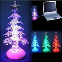 Christmas Tree Christmas Decoration Supplies China (Mainland) MOQ: 5 pcs free shipping color changing christmas tree USB LED light