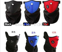 Wholesale 2pcs In stock New Paintball Bicycle Motorcycle Ski Winter Warm Neck Half Face Mask Black
