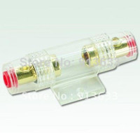 High Yes Automotive In stock Car AGU Glass Fuse Holder Block Gold Plated For Car Audio Gauge