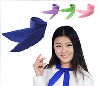 Wholesale Fashion men women cool water band speed to cool towel cooling scarves neck tie scarf headband wristband summer beach sarongs neckerchief new