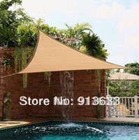 Wholesale In stock Triangle Sun Shade Sail Canopy m ft Pre Attached Rope No Tools Needed