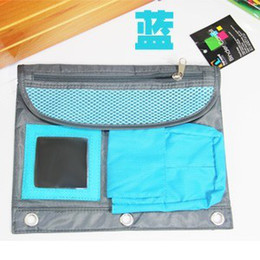 Wholesale Shop agents on behalf of a multi purpose file storage bag Cosmetic bag with mirror