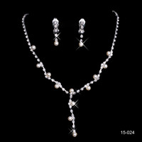 Wholesale Cheap New Styles Statement Necklaces Pearl Sets Bridesmaids Jewelry Lady Women Prom Party Fashion Jewelry Earrings