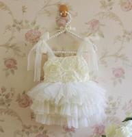 baby girl kids rose flower tutu dress floral tutu dress one-...