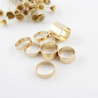 Wholesale Hip Hop Jewelry Punk style Gold Silver Color Rock Party Finger Midi Rings for Men and Women set