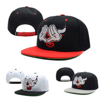 Wholesale S5Q Bull Flat Snapback Baseball Hip Hop B boy Adult Adjustable Sports Cap Hat AAABXG