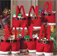 Wholesale Santa pants Christmas candy gift bag Xmas Bag Gift bags candy bag Christmas decorations