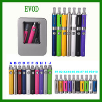 Wholesale 2014 EVod MT3 Electronic Cigarette Strater kits ml MT3 Clearomize atomizer ego Evod Battery Alumium Metal Case via DHL