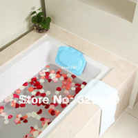 Wholesale Bathroom supplies bathtub pillow bath pillow bathtub headrest suction cup waterproof broken glass bath pillow
