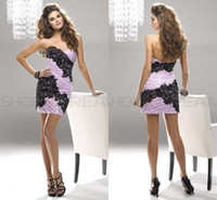 Reference Images Elastic Satin Sweetheart Sweetheart Ruched Applique Lace Elastic Satin Sheath Short Homecoming Dress Light Purple Silver Blue Sexy Tight Cocktail Dress Zipper Up