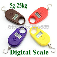 Pocket Scale <50g Yes Drop Shipping 25kg*5g 25kgx5g 25kg-5g Mini Purple Display Hanging Luggage Fishing Weighing Digital Scale KG LB