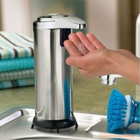 Wholesale Stainless Steel Automatic Sensor Cream Sanitizer amp Soap Dispenser Infrared Handfree Touchless Dropping For Bathroom Sets