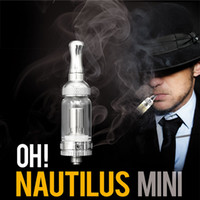 Wholesale Note Newest Design Aspire Nautilus Mini Tank ml Glassomizer Bottom Vertical Coil E Cigarette Atomizer Adjustable Airflow Tank