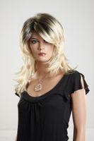 Wholesale kanekalon new fashion short straight blonde wigs for black women
