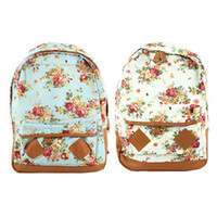 Wholesale S5Q New Women Fashion Vintage Cute Flower School Book Campus Lovely Backpack AAABXW