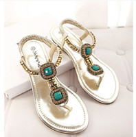 Men Spool Heel Spot Wholesale 2014 new commodity on behalf of the family rivets Roman style sandals comfortable shoes beaded flip